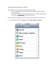 Setting up Exchange Mail on an iPhone