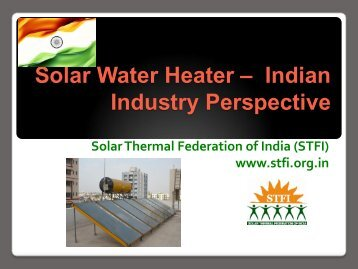 Solar Water Heater – An Industry Perspective