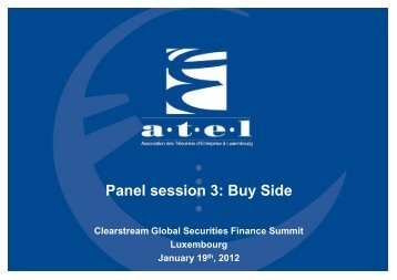 Panel session 3: Buy side - RTL Group - Clearstream