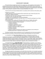 SOCCER SAFETY GUIDELINES - Pasco School District