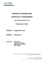 Semester 2 - TSI-Turismo Sant Ignasi - Universitat Ramon Llull