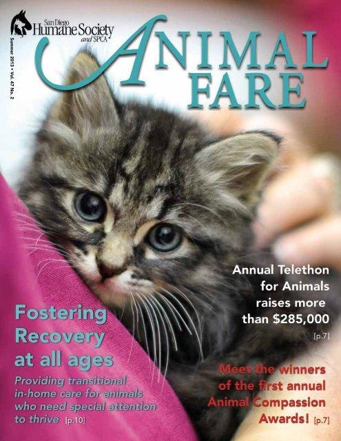 Summer 2013 • V ol. 47 No. 2 - San Diego Humane Society and SPCA