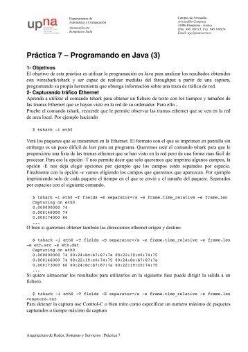 Práctica 7 – Programando en Java (3)