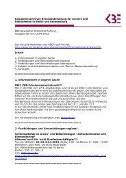 Kompetenzzentrum BestandsErhaltung für Archive und Bibliotheken ...