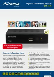Digitaler Terrestrischer Receiver SRT 5300 - STRONG Digital TV