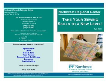 Sewing Quilting Flyer 2118.pdf - Northeast Wisconsin Technical ...