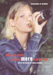 Børn og unge drikker mereend du tror - Sundhedsstyrelsen