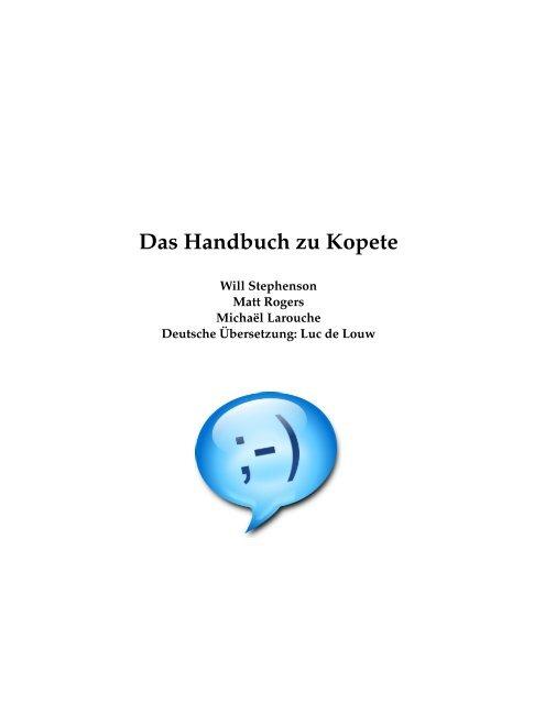 Das Handbuch zu Kopete - KDE Documentation