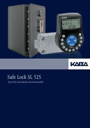 Safe Lock SL 525 - Kaba Group