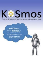 KOSmos-Ausgabe 5 - Kopernikus-Oberschule Berlin-Steglitz