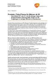 (Tabu)Thema für Männer ab 50 (PDF) - GlaxoSmithKline Pharma ...