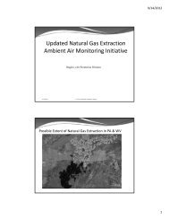 Updated Natural Gas Extraction Ambient Air Monitoring ... - MARAMA