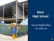 Klein Collins High School - Klein High School