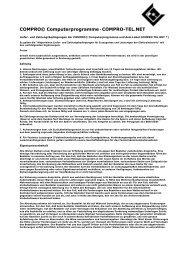 Die Geschäftbedingungen - COMPRO Computerprogramme