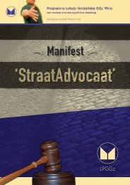 Manifest Straatadvocaat - Landelijk Platform GGz