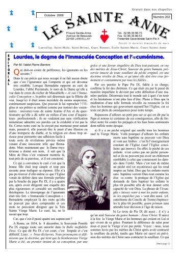 Le Sainte-Anne n° 202 d'octobre 2008 - La Porte Latine