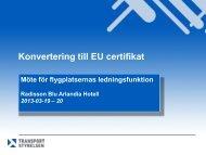Konvertering till EU certifikat - Transportstyrelsen