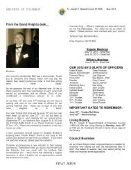 Newsletter - St Ferdinand Parish