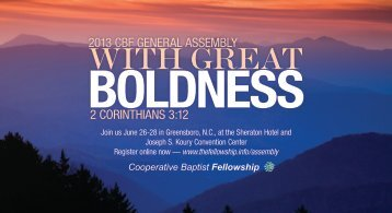 Oversized postcard - Cooperative Baptist Fellowship