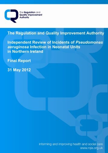 RQIA Independent Review of Pseudomonas Final Report, May 2012