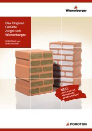 Das Original. Gefüllte Ziegel von Wienerberger. - EnEV-Service