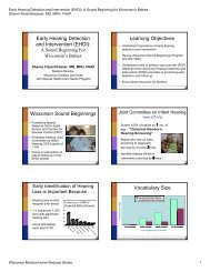 Early Hearing Detection and Intervention (EHDI ... - Waisman Center