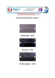 Die Standard Bisley-Farben Stahlsilber - 807 ... - ITA-Copysysteme