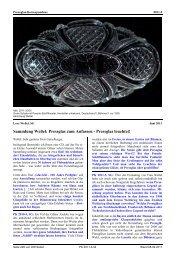 Sammlung Weßel: Pressglas zum Anfassen - Pressglas leuchtet!