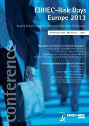 View conference programme - EDHEC-Risk