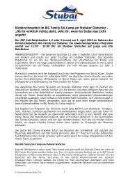 AUSGEZEICHNETE PRESSE- UND ... - Stubaier Gletscher