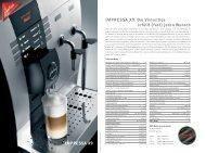 IMPRESSA X9 - JURA Kaffeemaschinen