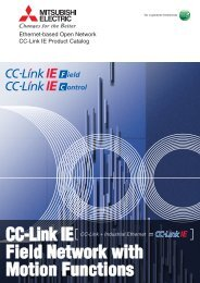 Ethernet-based Open Network CC-Link IE Product Catalog