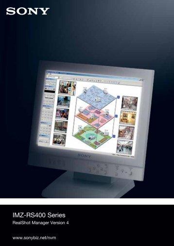 Sony RealShot Manager V4 CCTV software product datasheet
