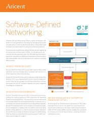 Software Defined Networking (SDN) and OpenFlow - Aricent
