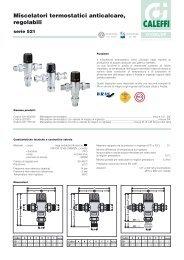 Miscelatori termostatici anticalcare, regolabili - Caleffi