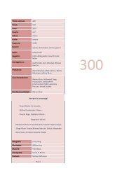 Titolo originale: 300 Paese: USA Anno: 2007 Durata: 117 ... - Cineplex