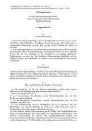 Entwurf einer Neufassung der Diplomprüfungsordnung für den