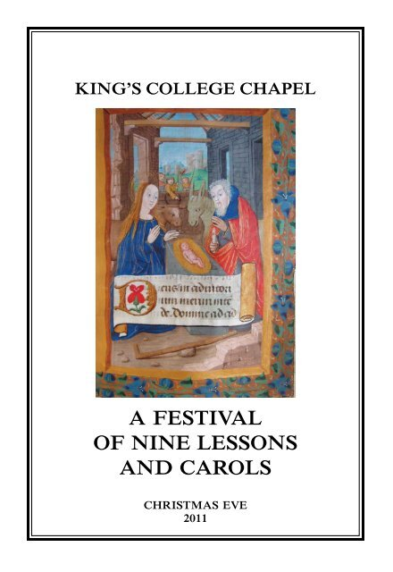 Kings College Chapel A Festival Of Nine Lessons And Carols