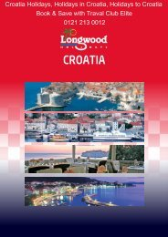Croatia Holidays 2012 with Longwood Holidays - Travel Club Elite