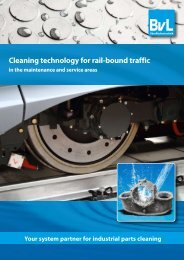 Cleaning technology for rail-bound traffic - BvL Group
