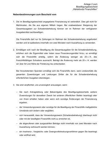 """""""Nebenbestimmungen"""" ( pdf )"""
