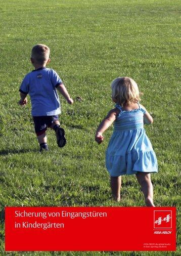 Sicherung von Eingangstüren in Kindergärten - INFOTHEK