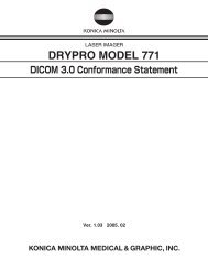 DICOM 3.0 Conformance Statement - Konica Minolta