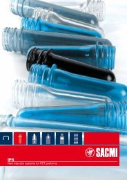 New injection systems for PET preforms - Sacmi