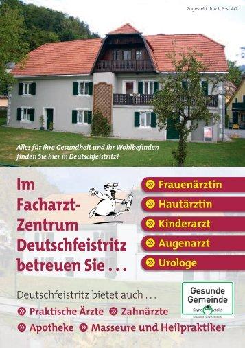 Im Facharzt- Zentrum Deutschfeistritz betreuen Sie . . . - istsuper.com