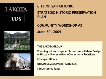 Workshop PowerPoint Presentation - The Lakota Group
