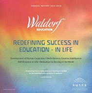Redefining SucceSS in education - in Life - Why Waldorf Works