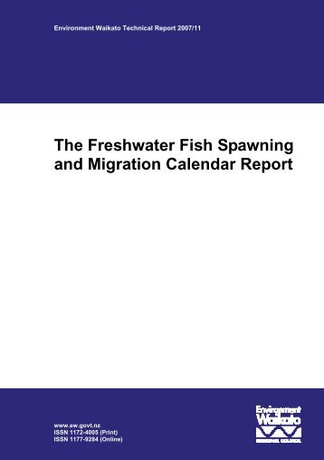 The Freshwater Fish Spawning and Migration Calendar Report