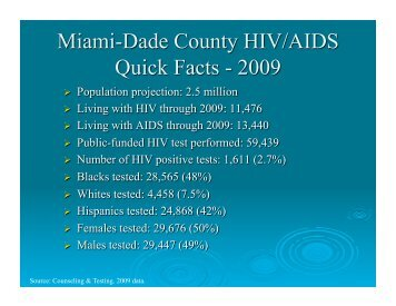 Miami-Dade County - Urban Coalition for HIV/AIDS Prevention ...