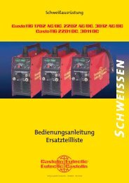 CastoTIG 3011 Bedienungsanleitung - Castolin Eutectic
